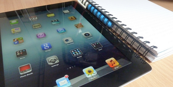 Ipad and notebook
